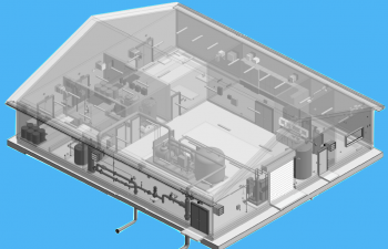 Industra - Cove Bay - Water treatment plant design-build 3D drawing
