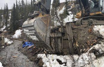 Industra - Alaska Highway Deactivation - Bridge Support Removal