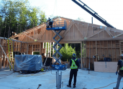 Industra - Cove Bay WTP - Bowen Island - Roof trusses work